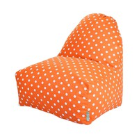 Printed Kick-It Chair - Small Polka Dots - Tangerine
