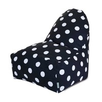 Printed Kick-It Chair - Large Polka Dots - Black