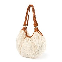 Crochet Handbag with Faux Leather Braided Straps | Claire's