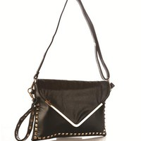 Vogue Art Studded Crossbody - The Black Bag Carryall - Modnique.com