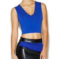 Deep-V Basic Crop Top | Arden B.