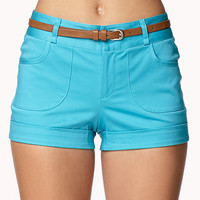 Cuffed Shorts w/ Belt