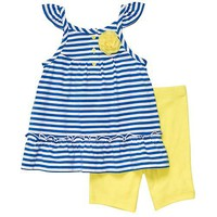 Carter&#x27;s 2-pc. Navy Striped Short Set