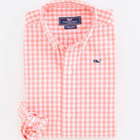 Boys Gingham Whale Shirt