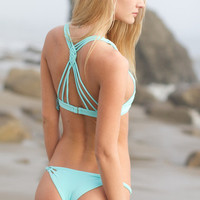 The Girl and The Water - Frankie's Bikinis 2014 - Luna Bikini Bottom / Blue - $88