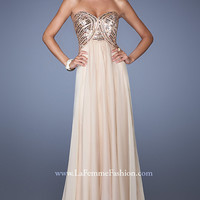 Long Open Back Strapless Sweetheart Dress