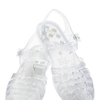 BC Footwear Totally Jelly Sandal in Clear Sparkle | Mod Retro Vintage Sandals | ModCloth.com