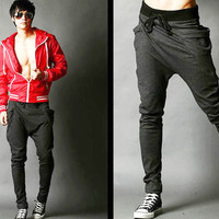 New Mens Women Boys Casual Sports Dance Harem Sweat Pants Baggy Jogging Trousers