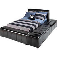 Zoey Black 4 Pc Full Storage Bed