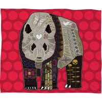 Sharon Turner Chocolate Panda Fleece Throw Blanket