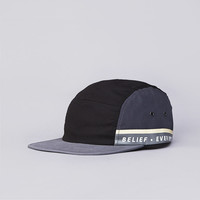 Flatspot - Belief Sideline 5 Panel Cap Black / Pewter / Steel