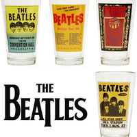 THE BEATLES POSTER PINT GLASS SET
