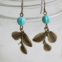 tea leaf earrings by Violet Bella