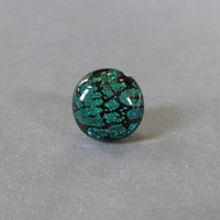 Green Tie Tack, Dichroic Lapel Pin, Fathers Day, Womens Jewelry, Mens Jewelry - Ari - 033 -3
