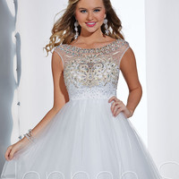 Scoop High Neckline Short Prom Dress Hannah S 27867