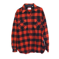 VINTAGE Red and Black Flannel King's Road