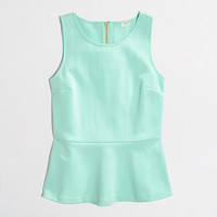 Factory ponte peplum top - tanks & camis - FactoryWomen's Knits & Tees - J.Crew Factory