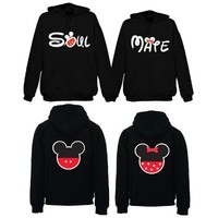 Soulmate Mickey & Minnie Couple Hoodie (Price for Two Hoodies)