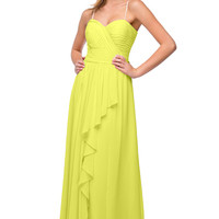 Rent Layered Chiffon Bridesmaid Dress in Yellow| Rent The Dress
