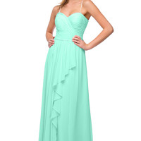 Rent Layered Chiffon Bridesmaid Dress in Mint | Rent The Dress