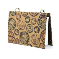 Index card pocket binder with java coffee and hot chocolate design 408 | artbysunfire - Paper/Books on ArtFire