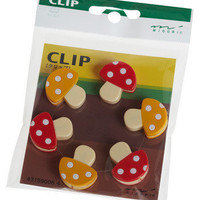 Mighty Mini Mushroom Clip Set | Mod Retro Vintage Desk Accessories | ModCloth.com