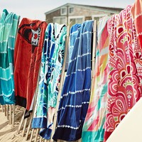 Tie Dye Stripe Beach Towel, Pool
