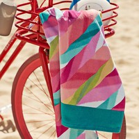 Ikat Stripe Beach Towel
