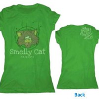 Friends Smelly Cat Green Juniors T-Shirt