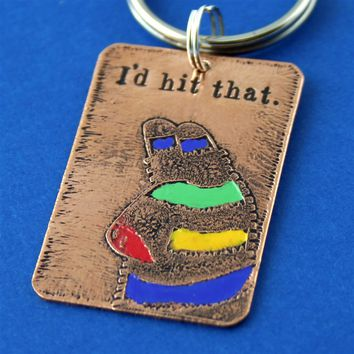 I'd Hit That - Pinata Key Chain - Spiffing Jewelry