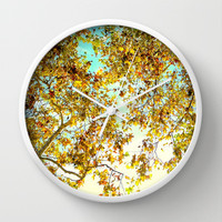 Autumn Umbrella Wall Clock by RichCaspian
