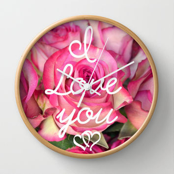 I Love you Wall Clock by RichCaspian