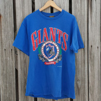 New York Giants 1990s Vintage Tee Shirt - Blue - SZ - L