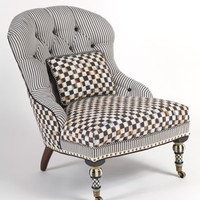 MacKenzie-Childs Underpinnings Accent Chair