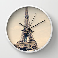 Good Morning Paris Wall Clock by Msimioni