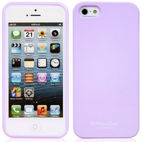 Phoneadd - Alice Pastel Soft Slim Fit Jelly Case for Iphone 5 (Purple)