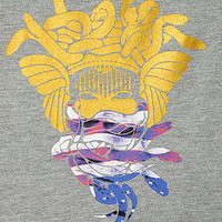 The Liberty Medusa Crewneck Sweatshirt in Heather Gray