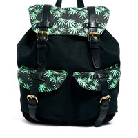 ASOS Backpack with Leaf Print