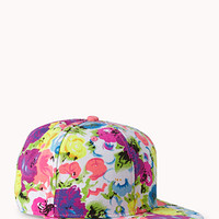 Vibrant Floral Fitted Hat