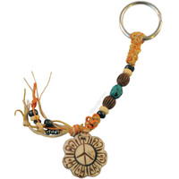 Bone Peace Flower Keychain on Sale for $5.99 at HippieShop.com