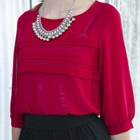 Charlotte Pleated Blouse
