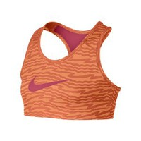 Nike Store. Nike Pro Hypercool Fitted Graphic Girls' Sports Bra