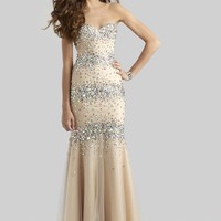 Clarisse 4301 Strapless Evening Gown