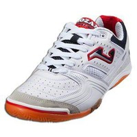Joma Lozano Indoor Soccer Shoes (White/Silver/Navy/Red)