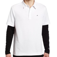 J.LINDEBERG Mens Stanton Regular Fit Tech Jersey Golf Shirt