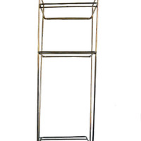 Vintage Mid Century Metal Shelf Tall Atomic Style Three Tier Home Decor - Plant Stand, Book Shelf, and More