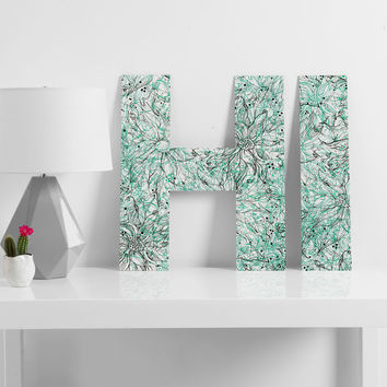 Lisa Argyropoulos Angelica Aqua Decorative Letters