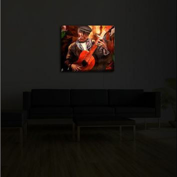 Markus Bleichner's 'The Guitarreo' | Illuminated Wall Art