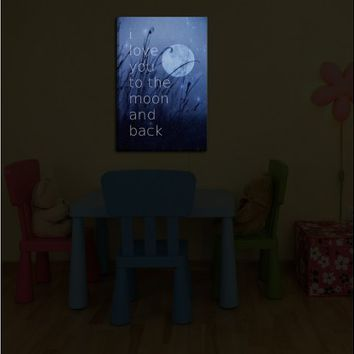Monika Strigel's 'Love You to the Moon' | Illuminated Wall Art