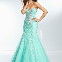 Sweetheart Beaded Paparazzi Prom Dress 95003